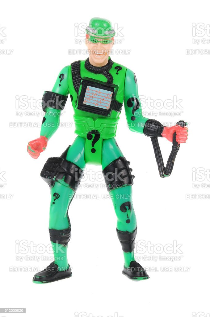 The Riddler Action Figure stock photo