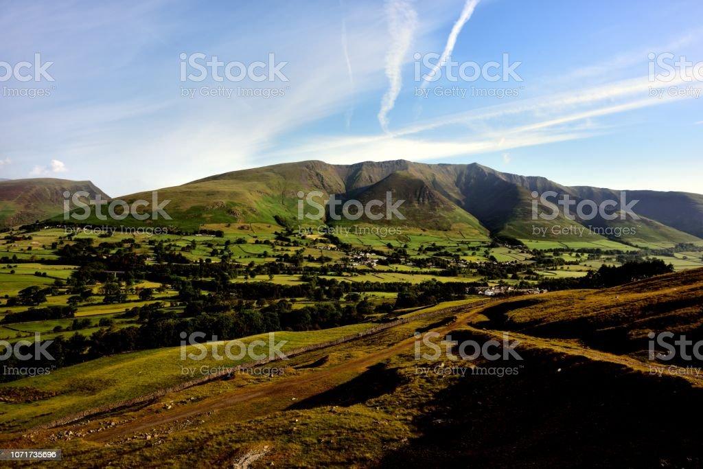 The ridge of Blencathra stock photo