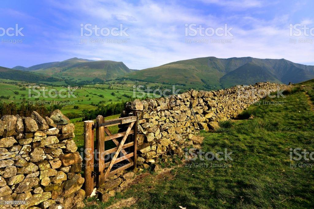 The ridges of Skiddaw and Blencathra stock photo