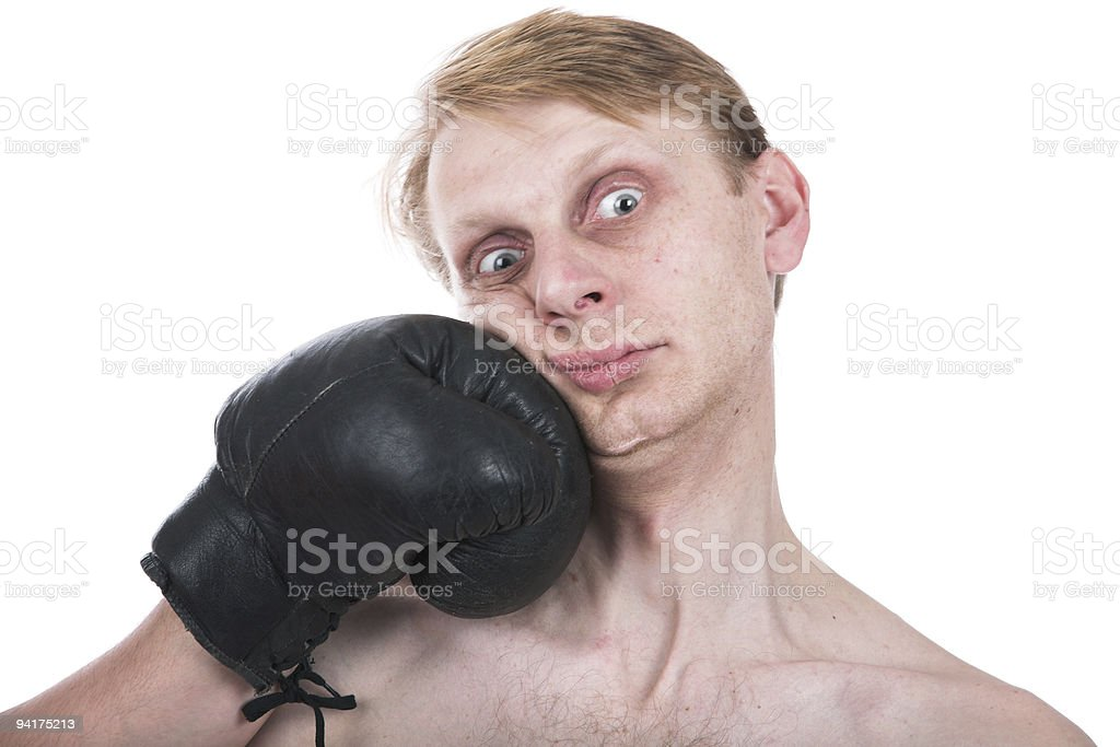 The ridiculous boxer royalty-free stock photo