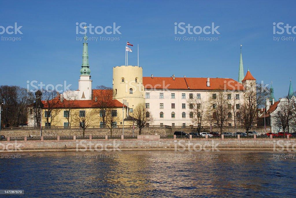 The Riga castle stock photo