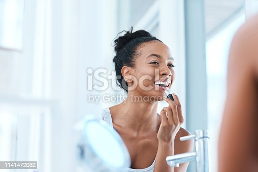 istock The right lipstick can do wonders 1141472032