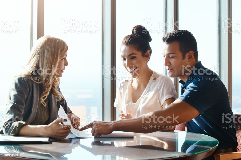 The right monetary advice makes makes all the difference stock photo