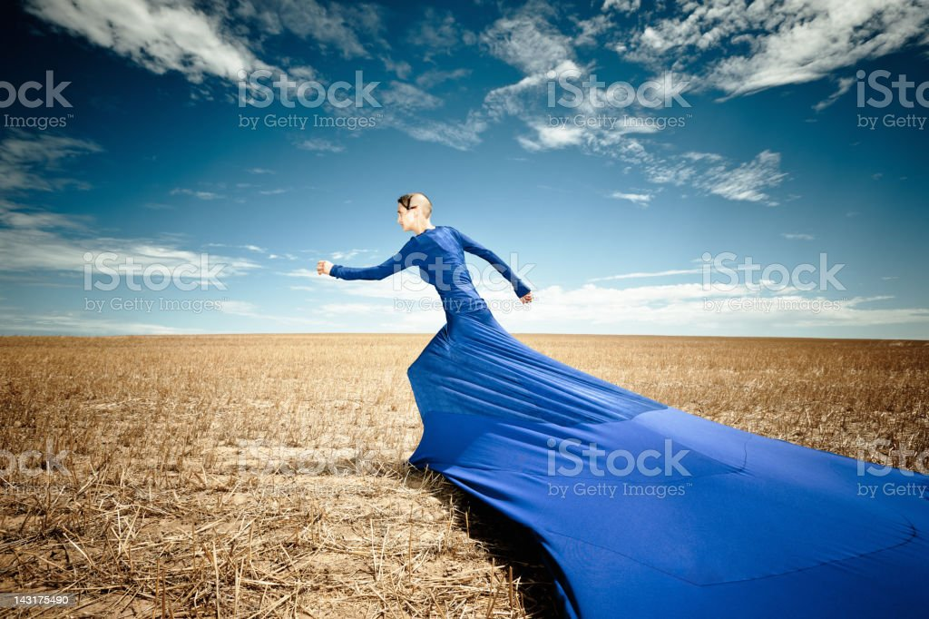 The Right Stuff, Surreal Fashion Portrait stock photo