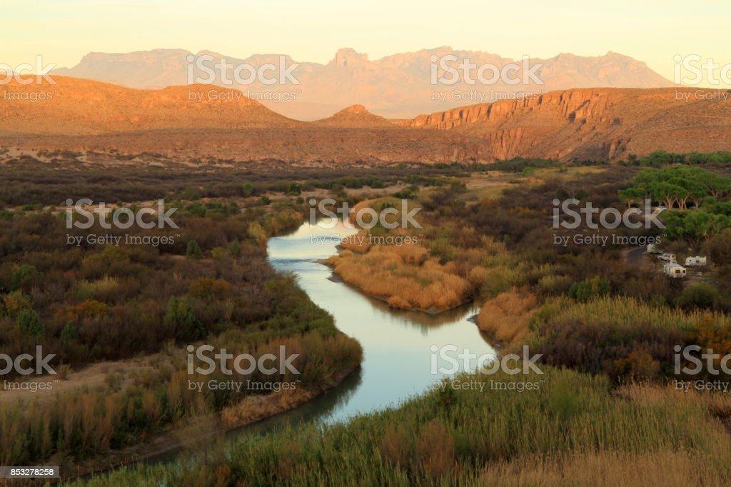 The Rio Grande stock photo