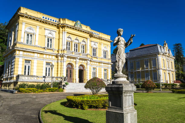 The Rio Negro Palace - the official summer residence of the Brazil Presidents Petropolis, Brazil  rio negro brazil stock pictures, royalty-free photos & images