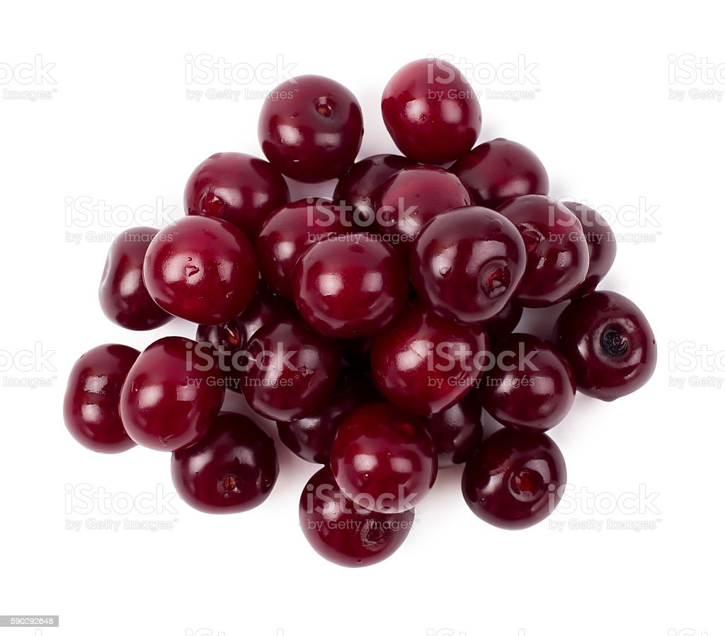 The ripe cherry royaltyfri bildbanksbilder