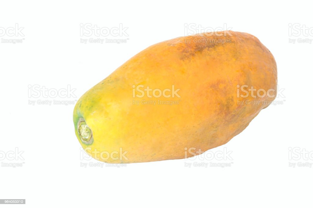 The ripe papaya clipping path - Royalty-free Agriculture Stock Photo