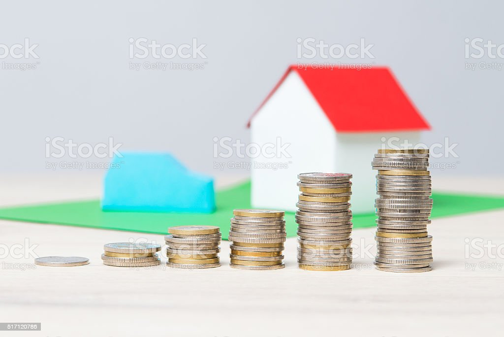 The rising cost of living. The increasing charges. stock photo
