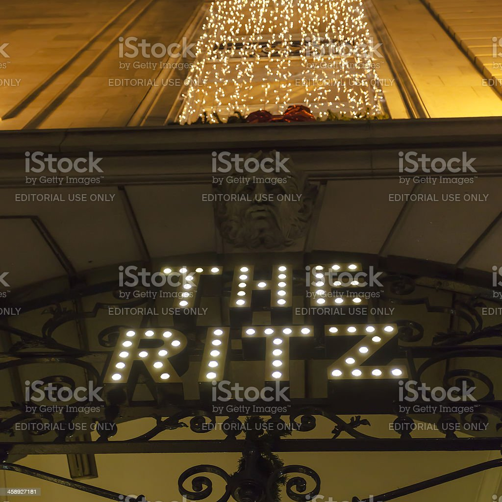The Ritz Hotel Piccadilly stock photo