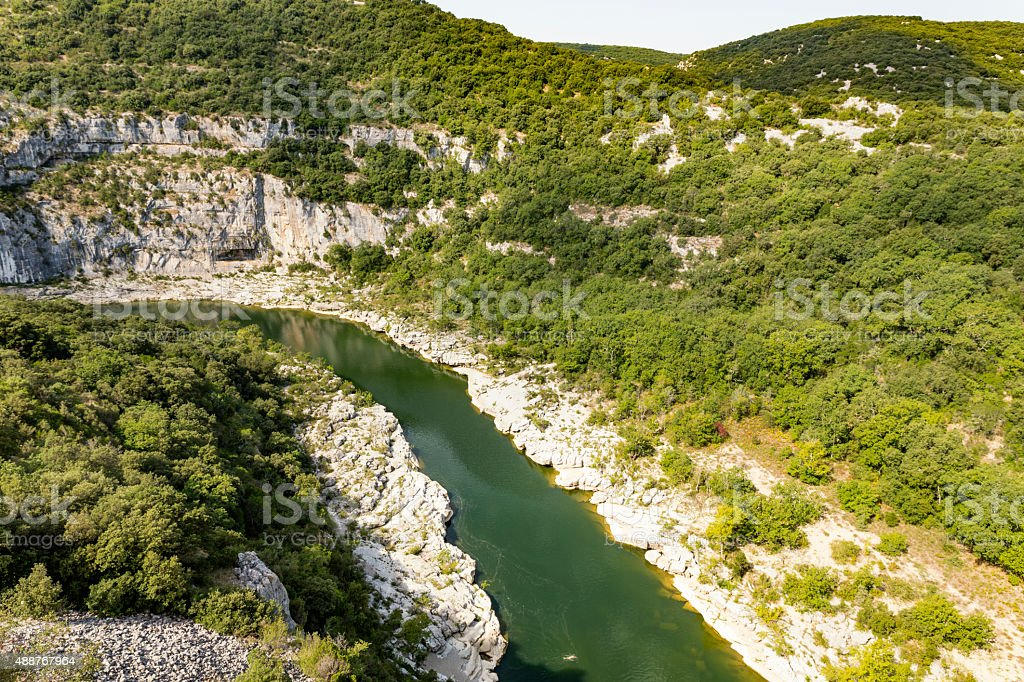 The river Ardeche in South France, Europe stock photo