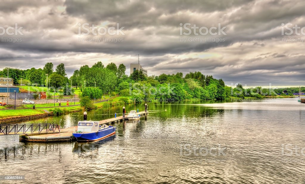 The river Bann in Coleraine - Northern Ireland stock photo