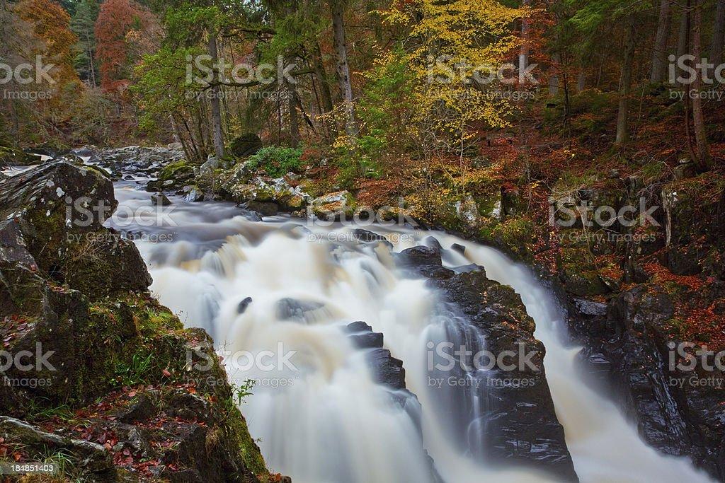 The River Braan, Dunkeld. stock photo