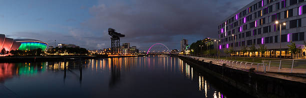 The River Clyde evening, Glasgow stock photo