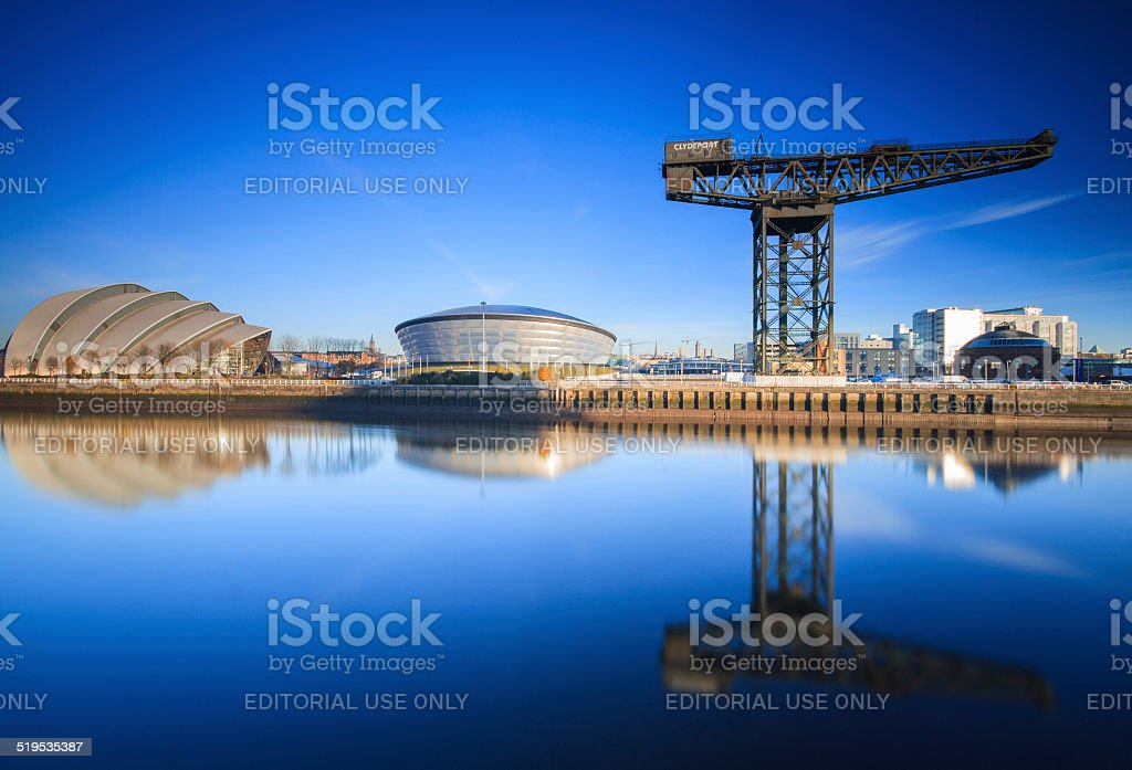 The River Clyde, Glasgow. stock photo