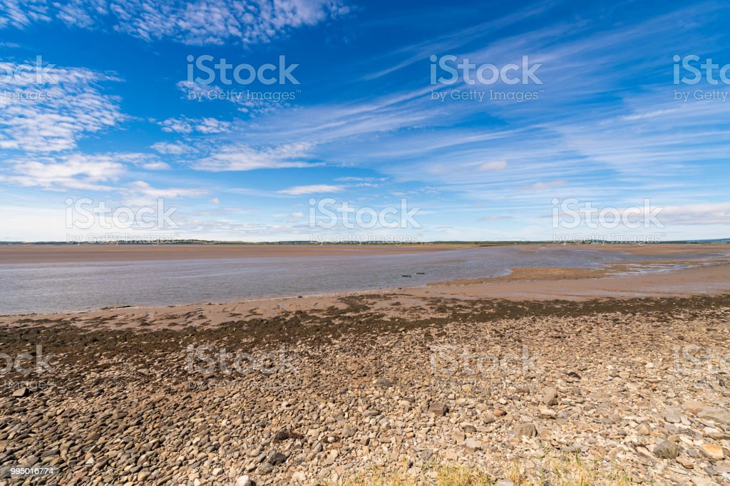 The river Cree and Wigtown sands at low tide