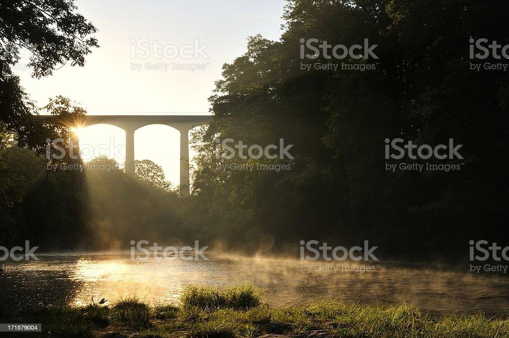 The River Dee at Pontcysyllte stock photo