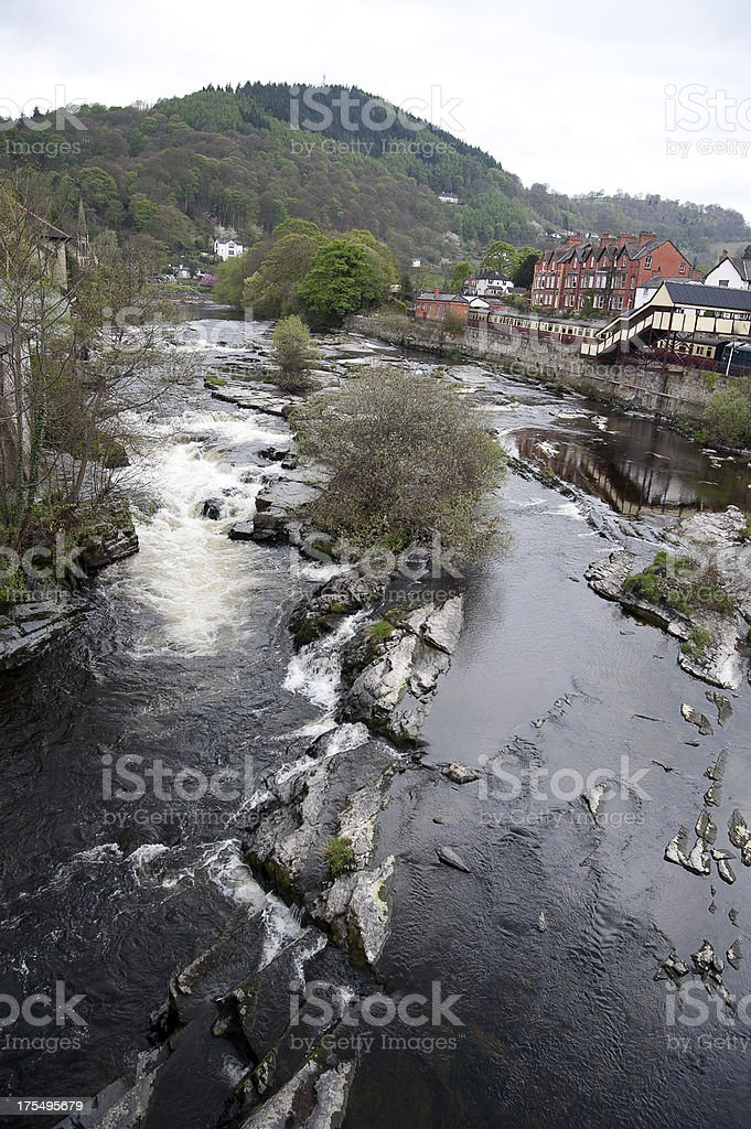 The river Dee, Llangollen royalty-free stock photo