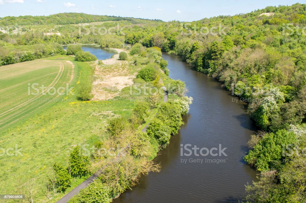 The River Don Looking Towards Sprotbrough stock photo