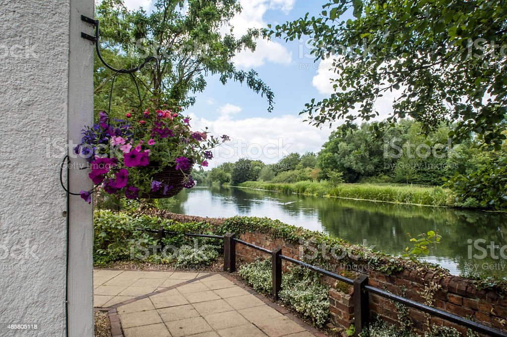 The river Great Ouse in Bedfordshire stock photo