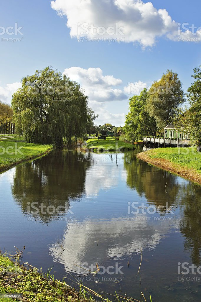 The river in Holland. Warm day royalty-free stock photo
