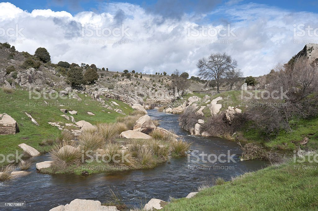 The river Manzanares royalty-free stock photo