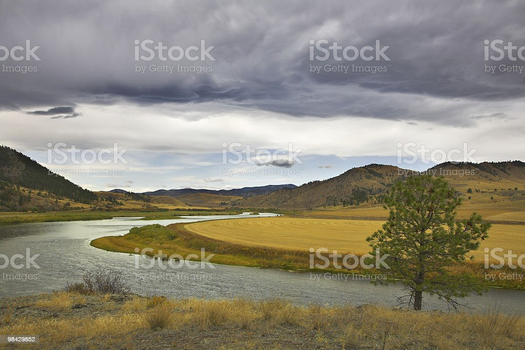 The river Missouri in October. royalty-free stock photo