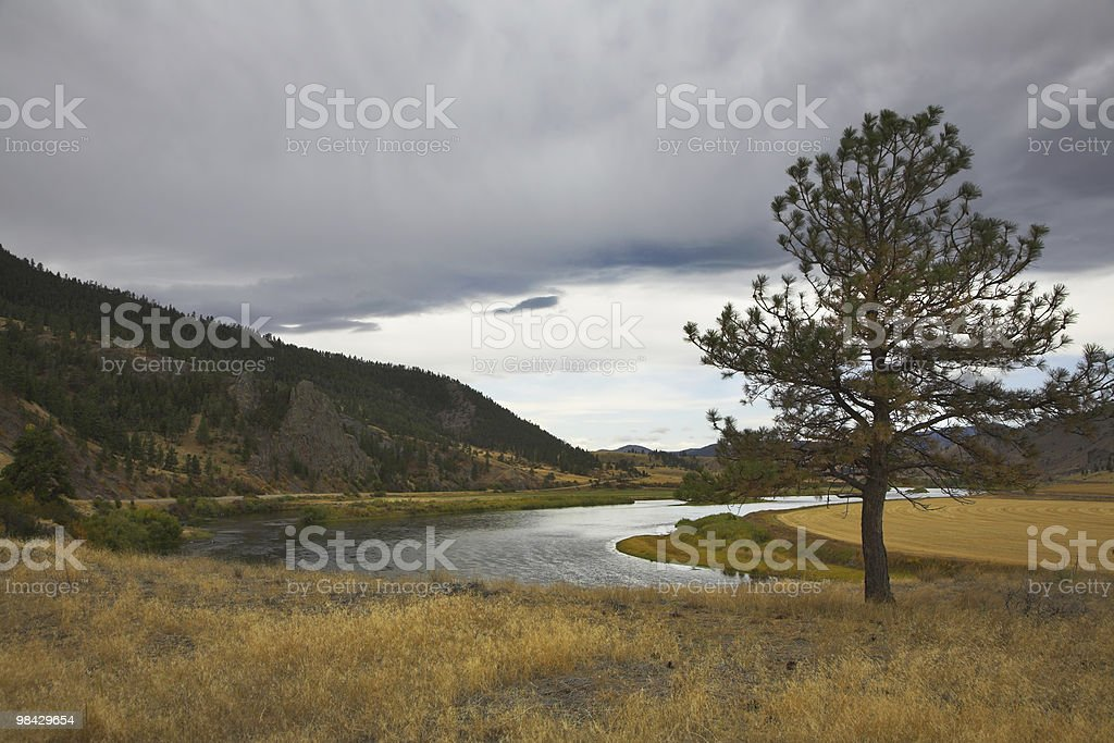 The river Missouri. royalty-free stock photo