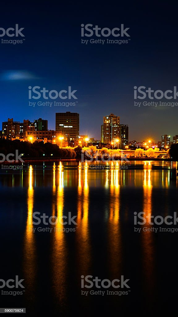 The river night shot stock photo