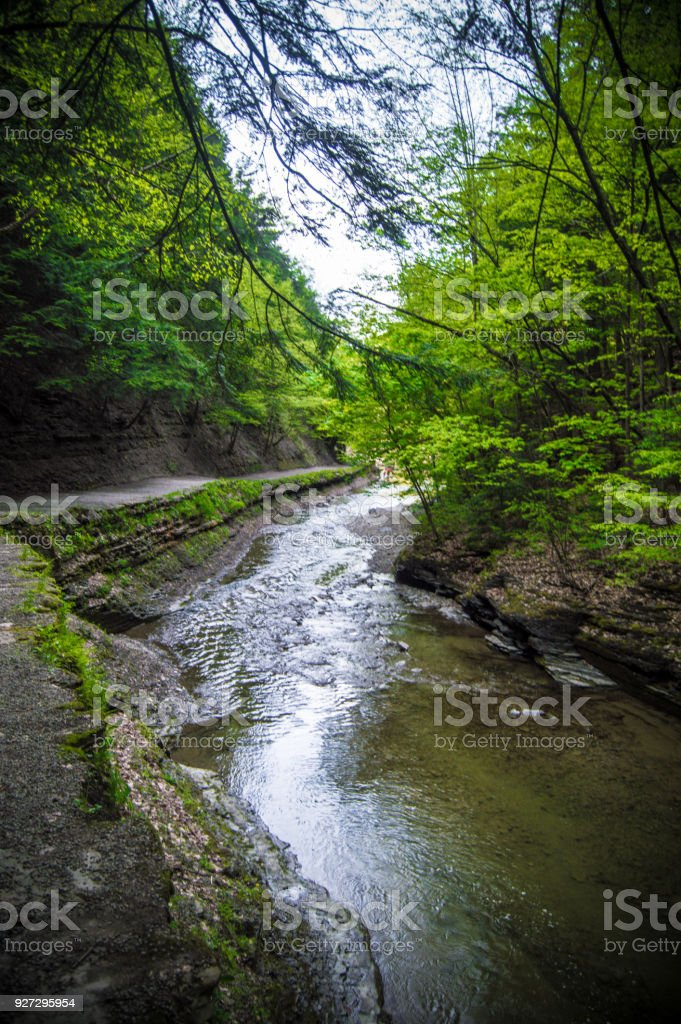 The river of letchworth state park stock photo