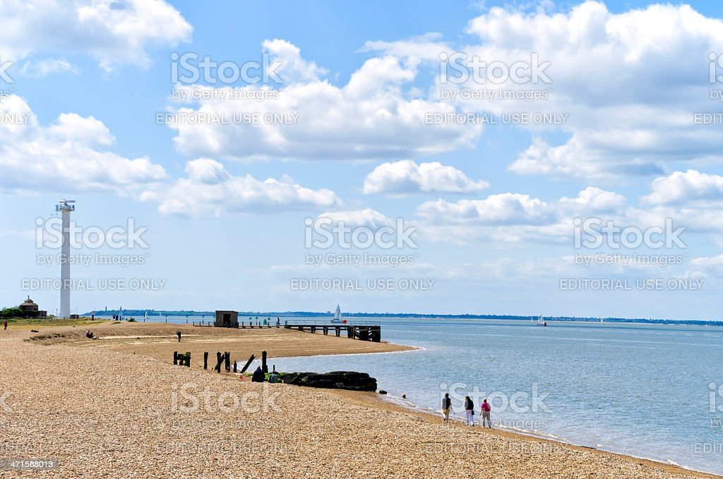 The River Orwell estuary from Felixstowe royalty-free stock photo