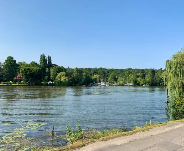 The River Seine in France. stock photo