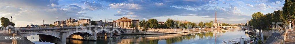 The River Seine in Paris. stock photo