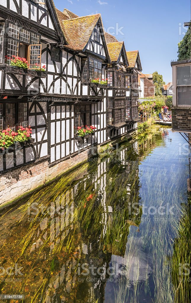 The River Stour in Canterbury stock photo
