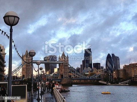 A great view point of Tower Bridge and the City of London.