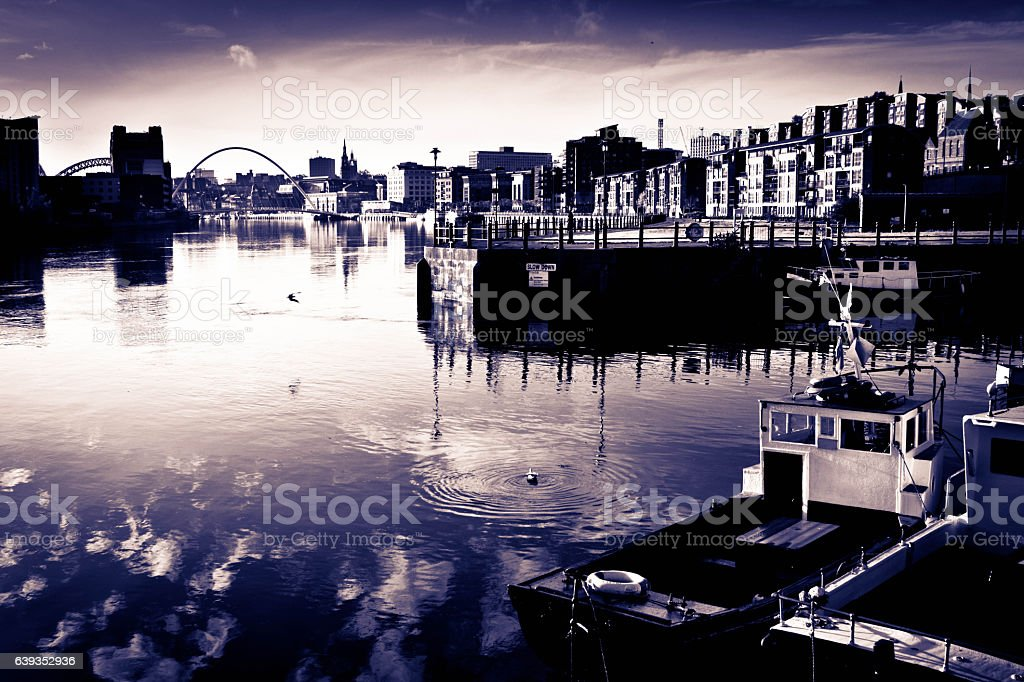 The River Tyne stock photo