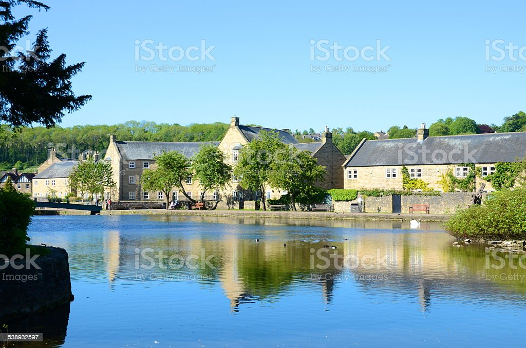 The River Wye at Bakewell stock photo