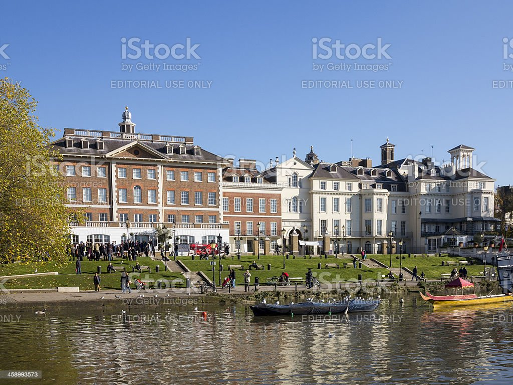 The Riverside development, Richmond-upon-Thames royalty-free stock photo