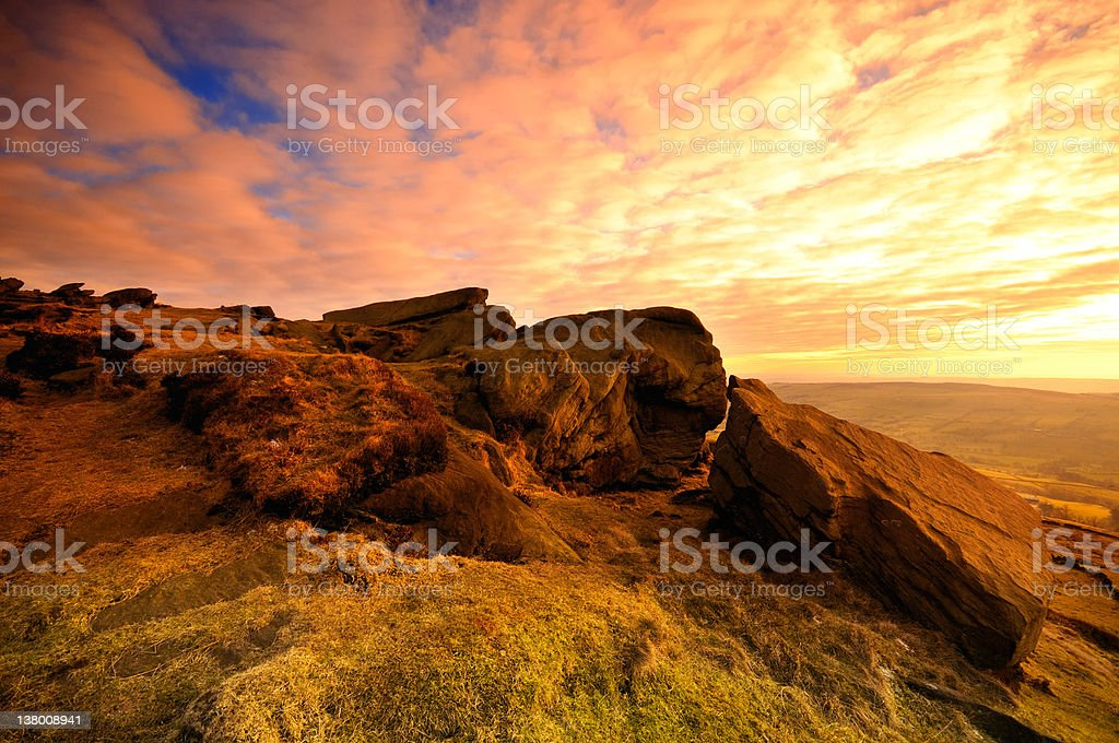 The Roaches, Peak District stock photo