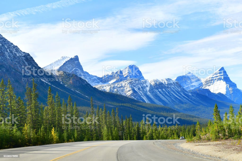 The Road 93 Icefield Parkway Canada Stock Photo - Download