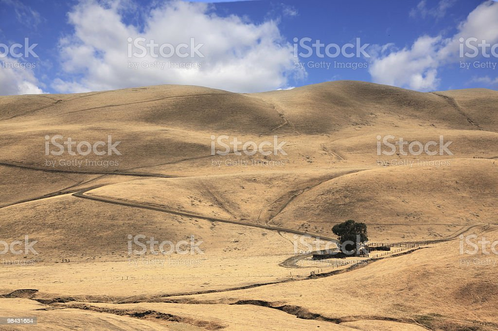 The road among hills of California royalty-free stock photo