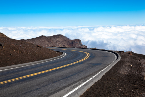 The Road At Haleakala Volcano Maui Hawaii Usa Stock Photo - Download Image Now