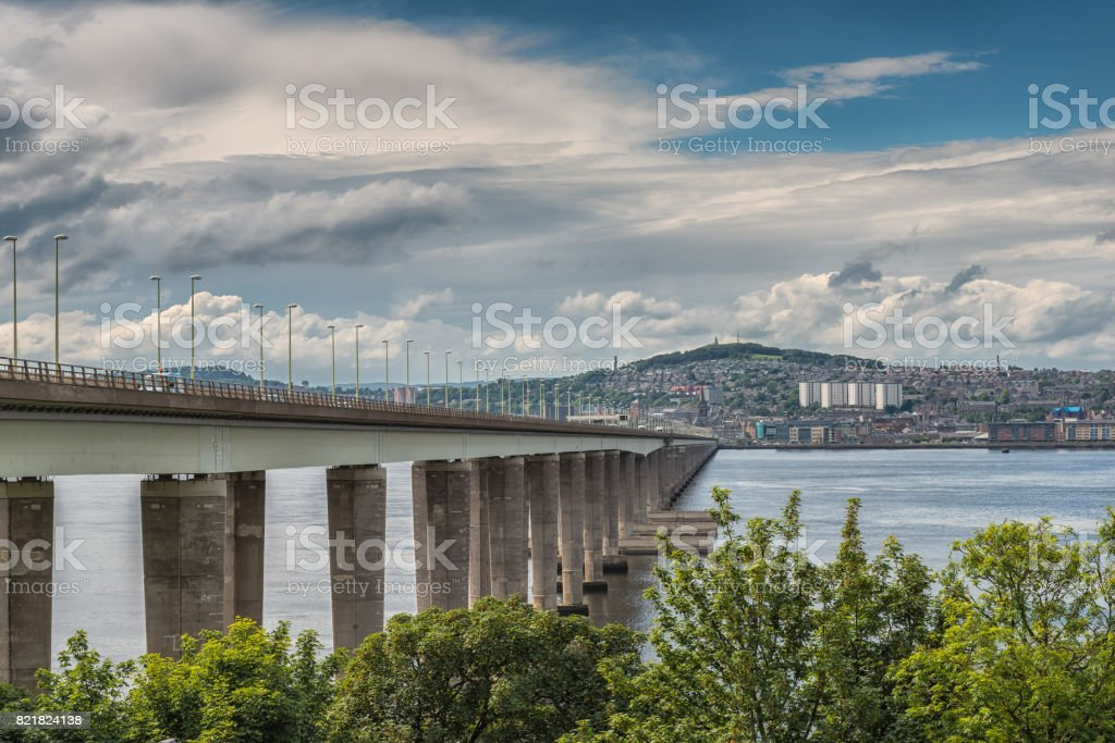 The Road Bridge at Dundee Scotland stock photo