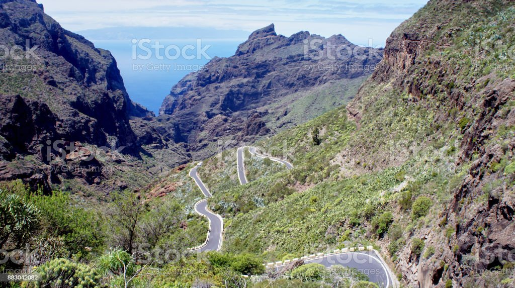 The road from Masca royalty-free stock photo
