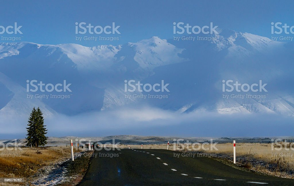 The road in New Zealand royalty-free stock photo