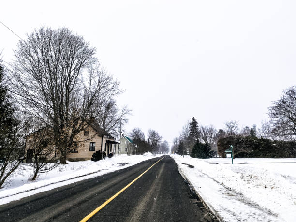 The road in winter. stock photo