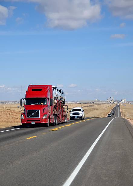 the road into laramie - volvo trucks bildbanksfoton och bilder