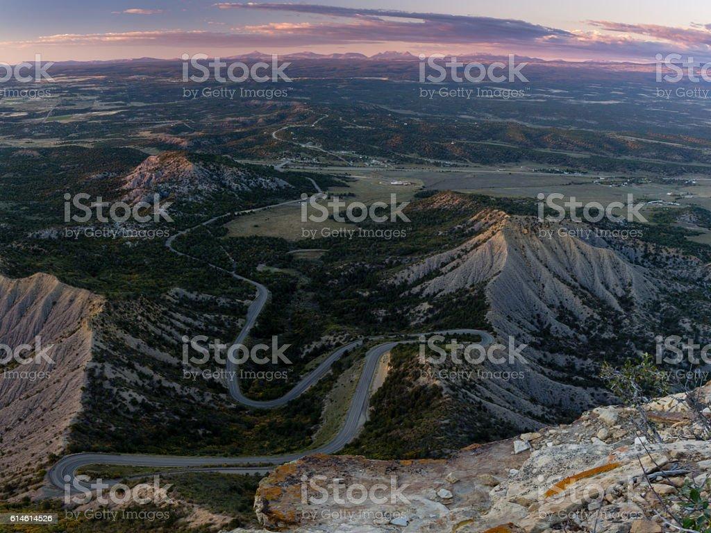 The Road Into Mesa Verde stock photo