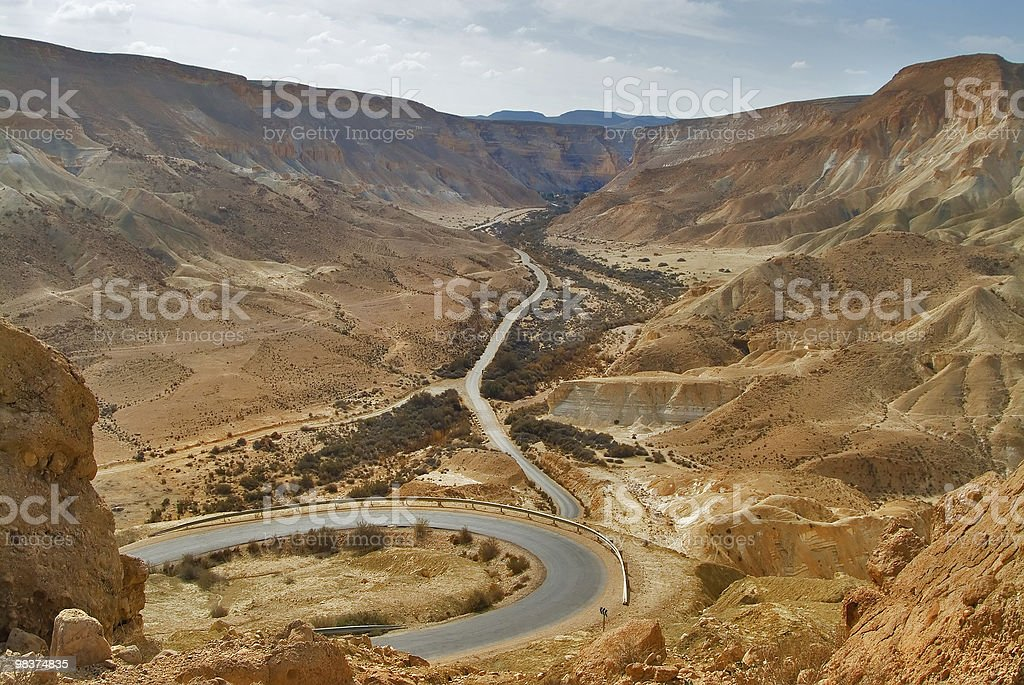 The road is bent royalty-free stock photo
