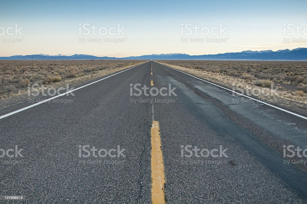 The Road Less Traveled stock photo